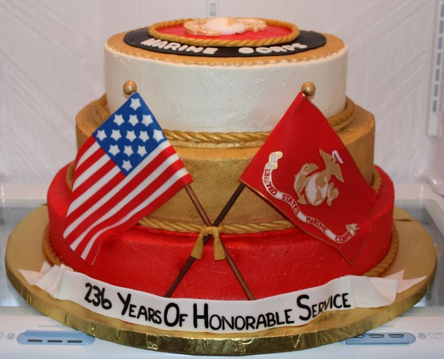 Mcia 2011 Marine Corps Ball Cake Awesome Marble with a chocolate