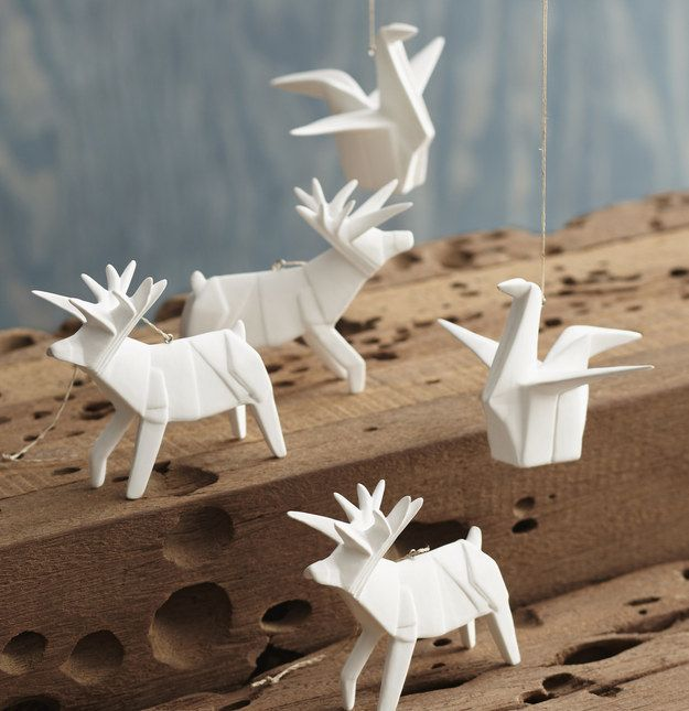 Roost Porcelain Origami Ornament, $16.50 (Each) | 23 Magical ...