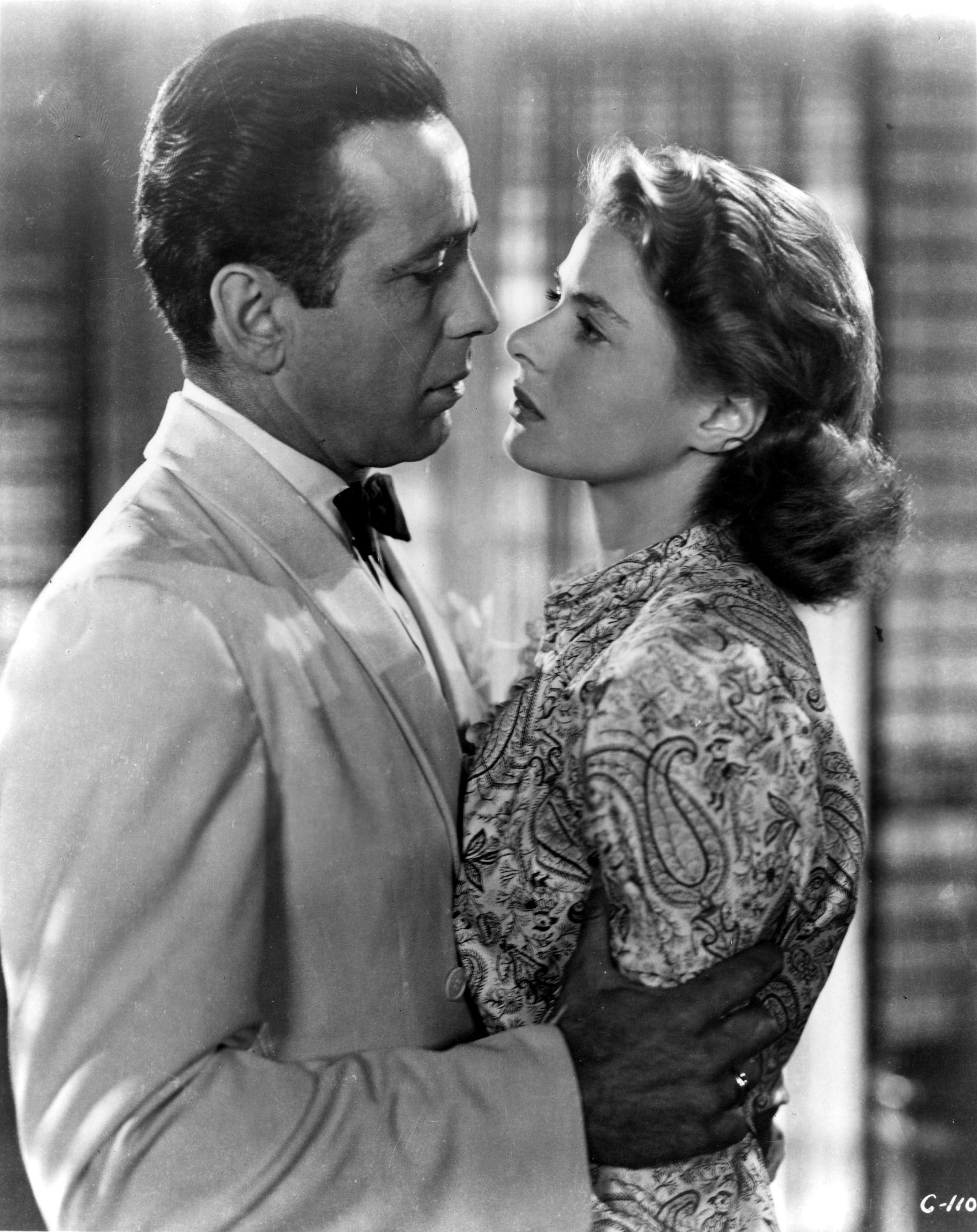 Humphrey Bogart and Ingrid Bergman CASABLANCA Ingrid