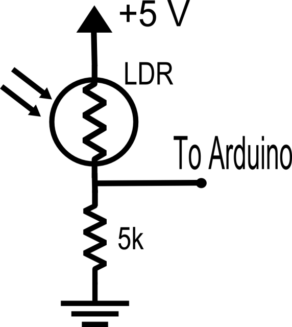 LDR Voltage Divider Circuit   Assembly language   Voltage
