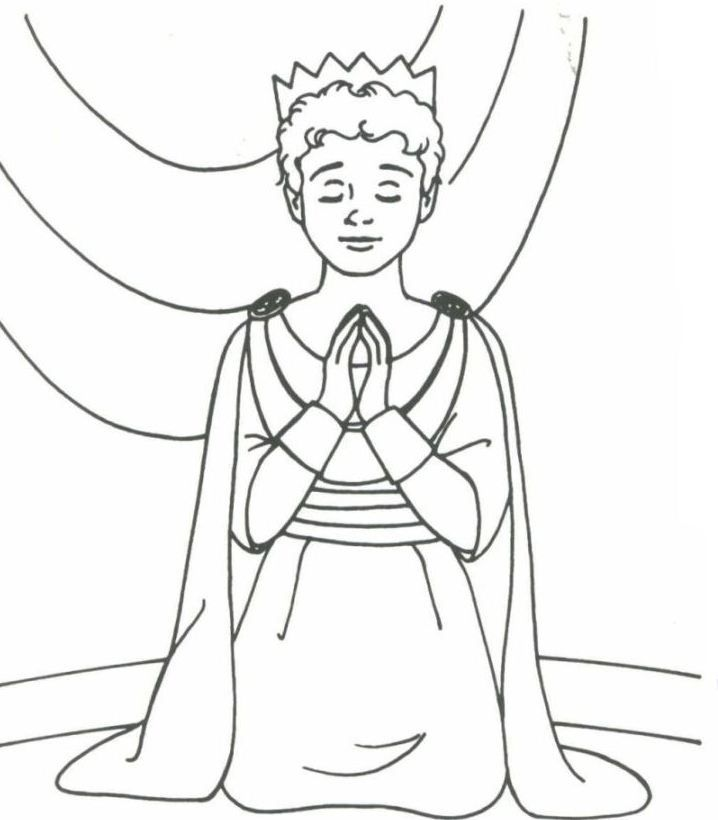 David coloring pages david bible printables king david for Josiah coloring page