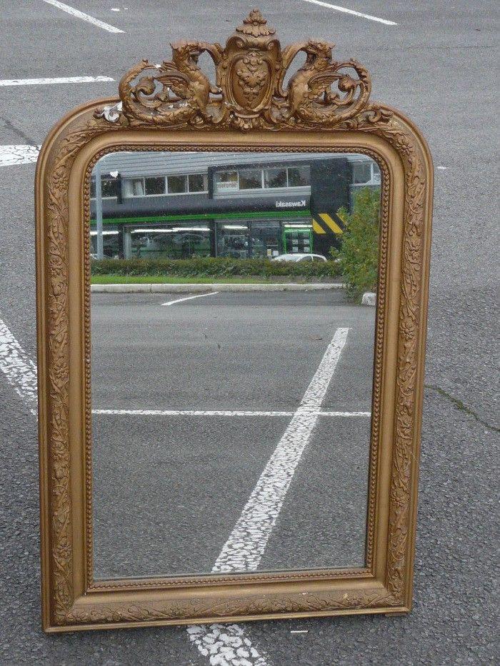 Miroir XXL doré ancien vintage classique #miroir #doré #xxl #ancien ...