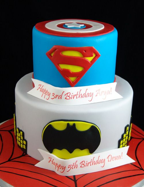 Super Heroes Cake Our Childrens Cakes Pinterest Custom