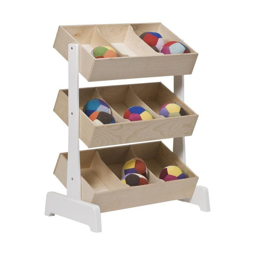 Toys Taking Over The Playroom? No Need! This Innovative Storage System By  Oeuf Boasts Three Tiers Of Storage Bins, Each Artfully Placed That Even The  Kids ...