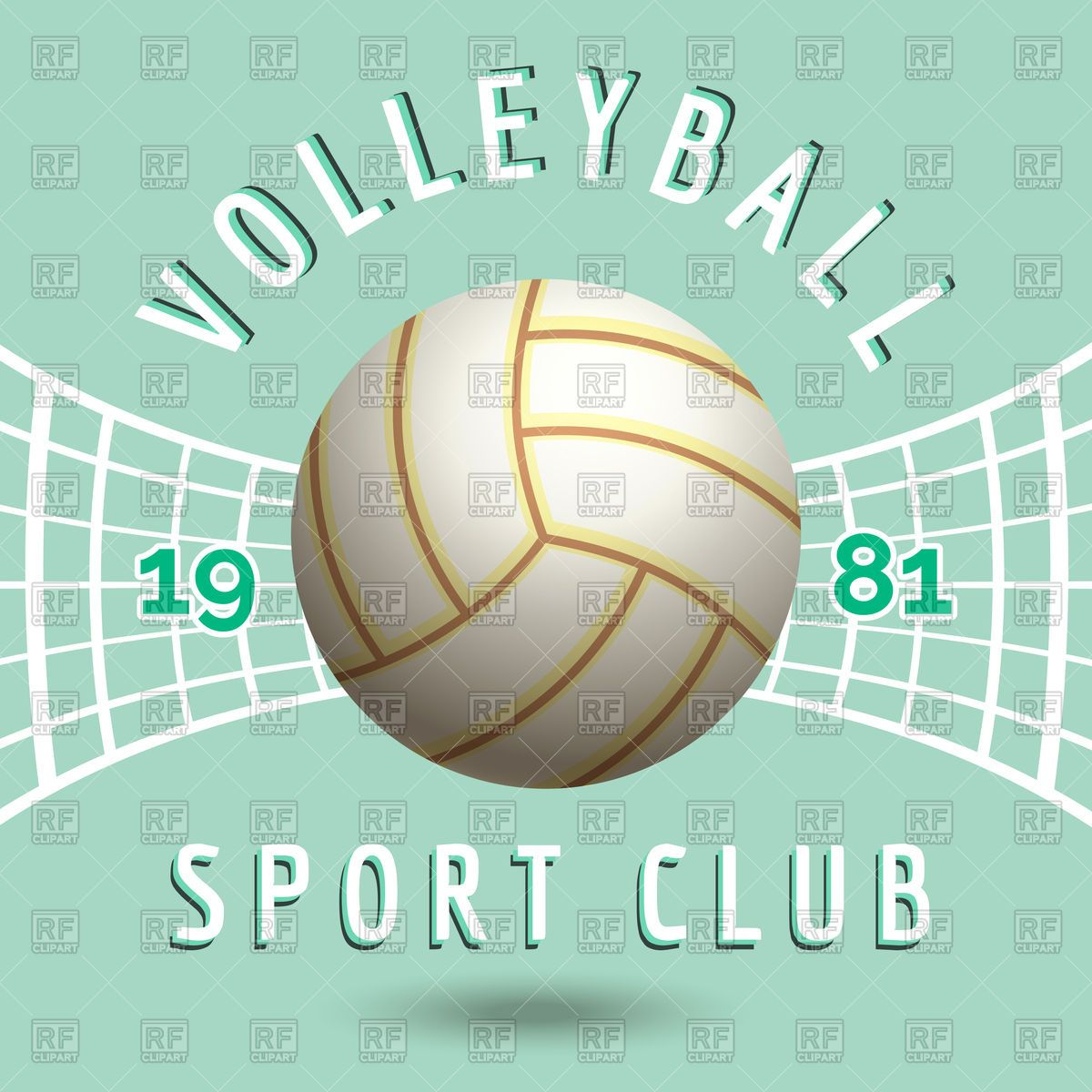 Download Royalty Free Volleyball Sport Team Emblem Vector Image 125585 From Rfclipart Illustrations Vect Team Emblems Free Vector Illustration Vector Artwork