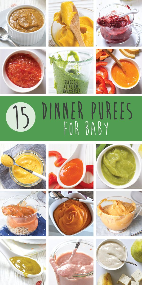 15 Dinner Ideas for Baby (Stage 2 Purees) | Baby food ...