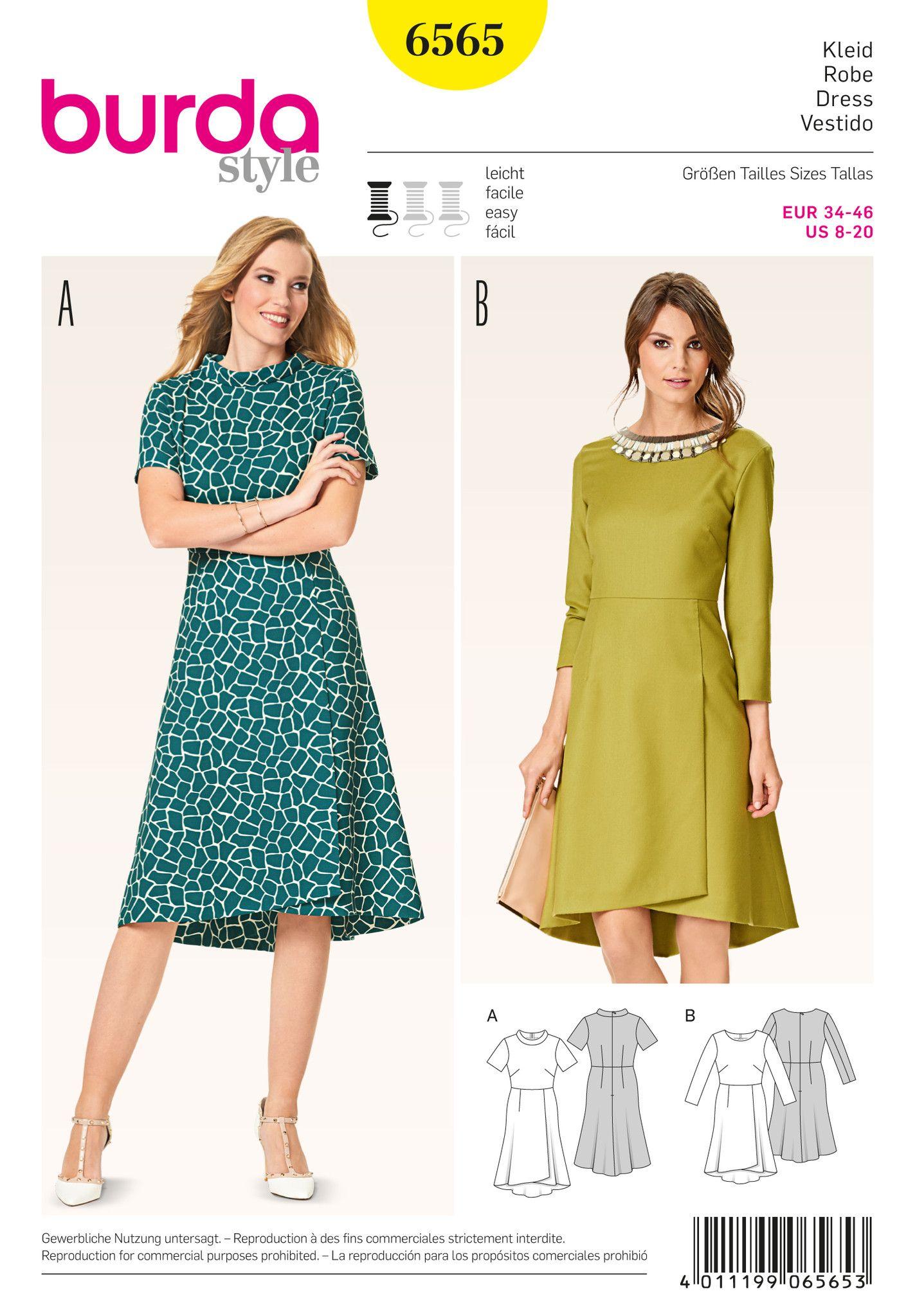 BD 6565 Burda Style Pattern 6565 Dress | Burda | Pinterest | Nähen