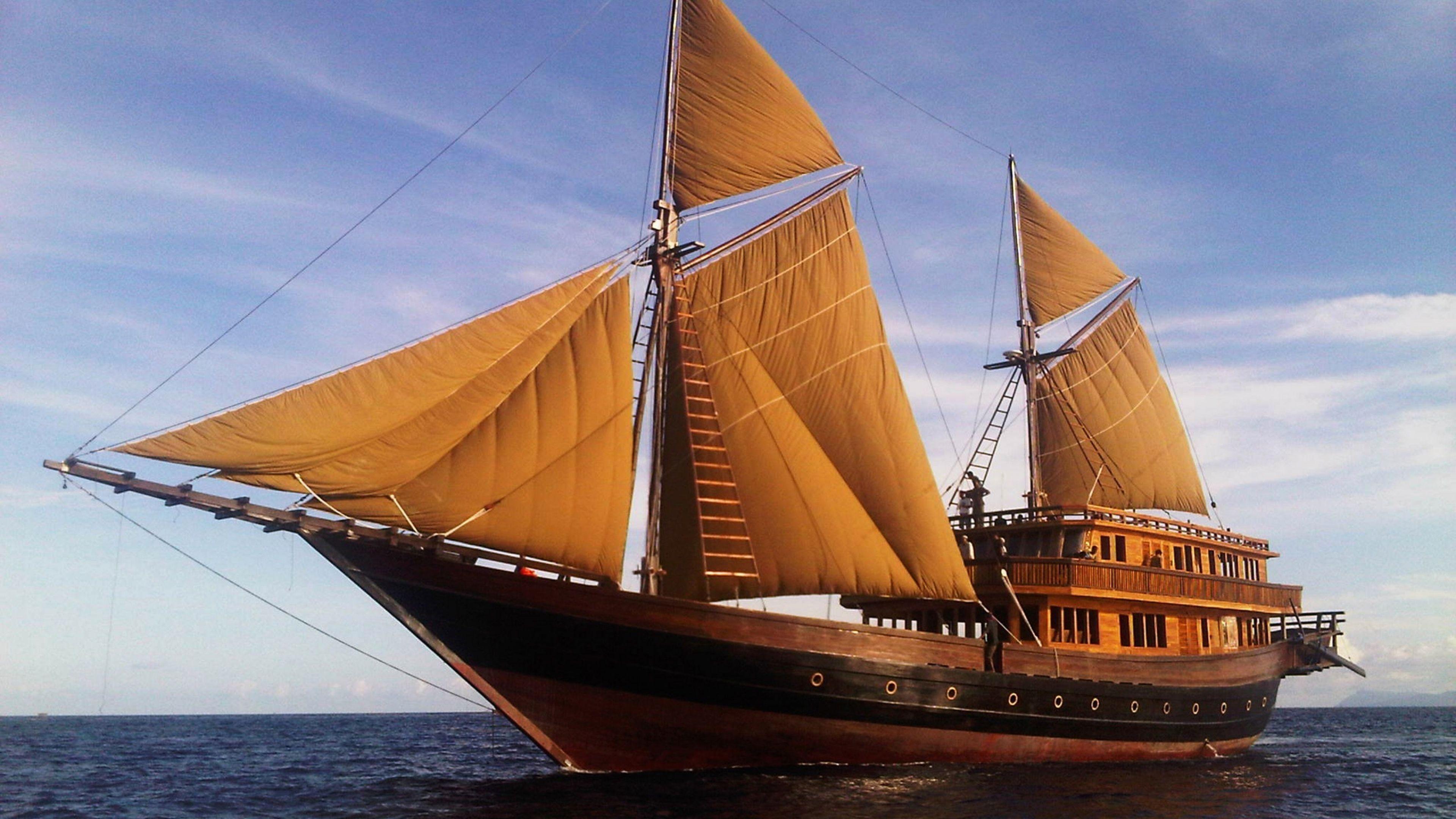4k Ultra Hd Sail Wallpapers Hd Desktop Backgrounds 3840x2160 Perahu Kapal Komodo