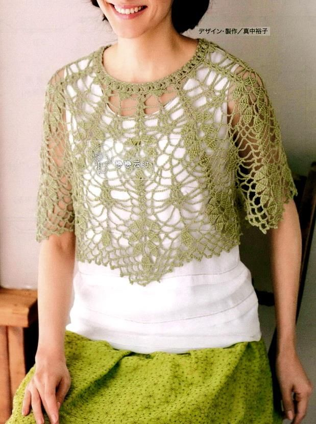 Crochet Lace Poncho Pattern - Beautiful for Summer (Crochet Shawls ...