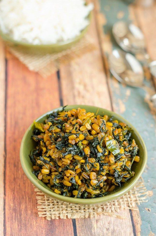 Fenugreek Leaves Moong Dal Curry Menthi Aaku Pesaru Pappu Koora Myspicykitchen Indian Food Recipes Vegetarian Indian Food Recipes Indian Veg Recipes