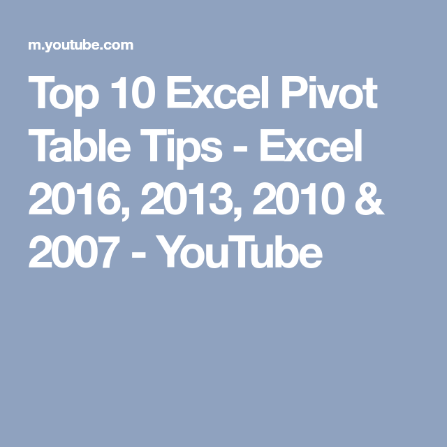excel tips and tricks 2013 youtube