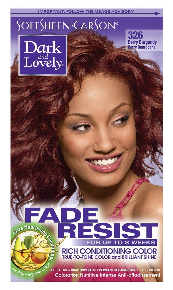Dark and Lovely Color *326 Berry Burgundy 3 Pack ** Visit