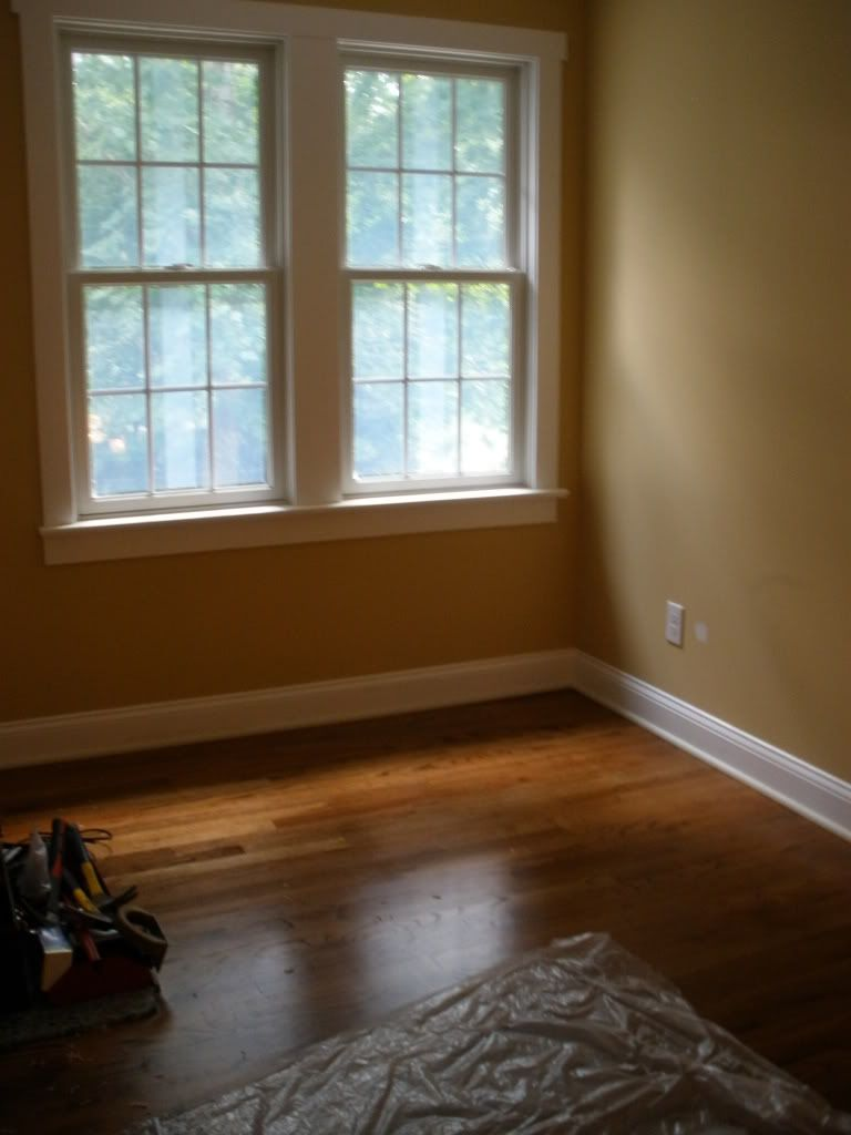 amazing chestnut hardwood flooring living room | Newly finished red oak w/ floor stain, in living room. 65% ...