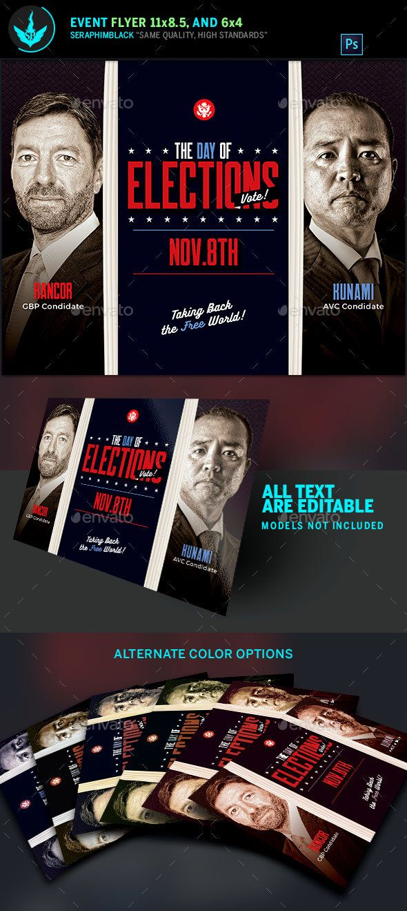 election flyer template corporate flyers