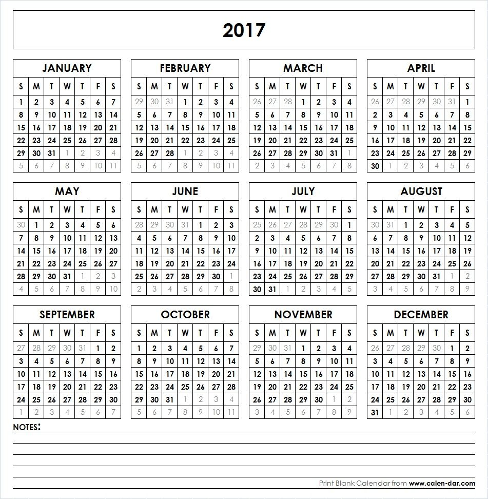 Get Free Blank Template Of Year  Printable Calendar These