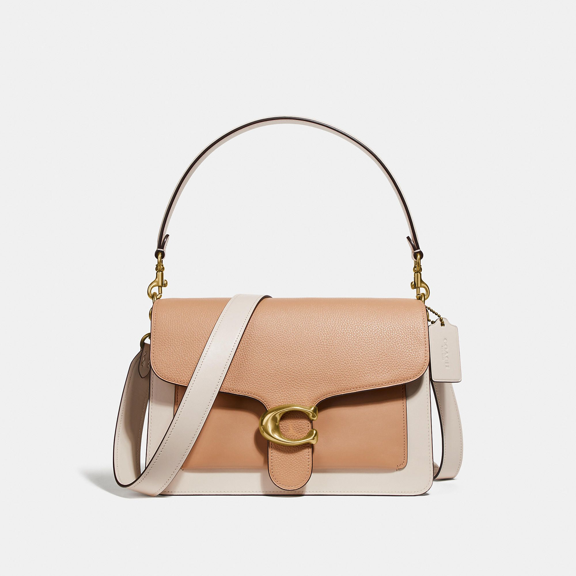 4c5f2470bdd COACH Tabby Shoulder Bag In Colorblock With Snakeskin Detail ...