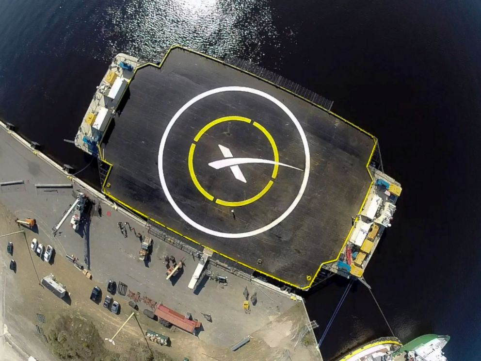The autonomous spaceport drone ship platform that the SpaceX Falcon 9 rocket is intended to land on.