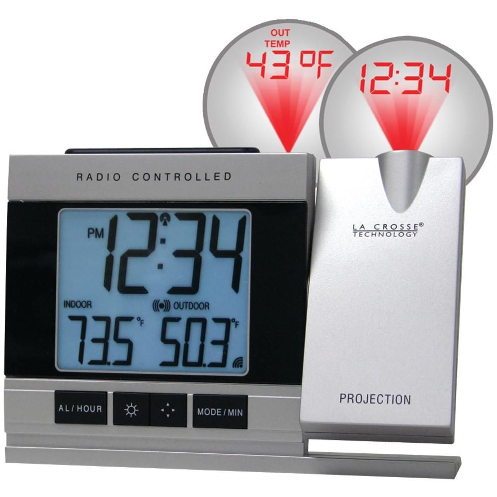 la crosse technology atomic projection alarm clock with indoor rh pinterest com Lacrosse Projection Alarm Clock Manual Atomic Projection Alarm Clock