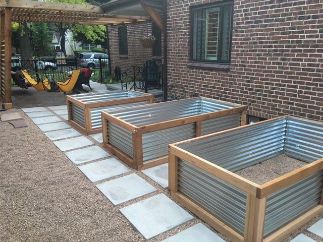 Concrete Pavers And Galvanized Raised Beds Garden Diy 400 x 300