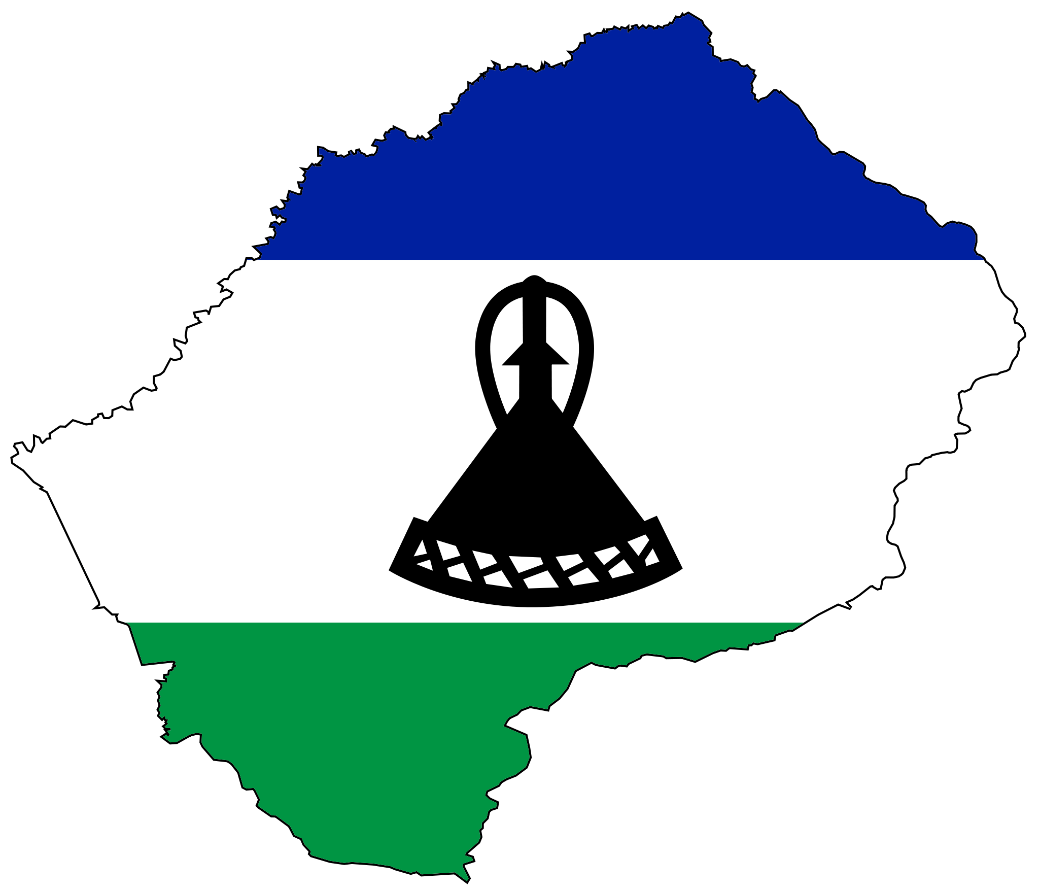 Lesotho flag map BelAfrique Your Personal Travel Planner www