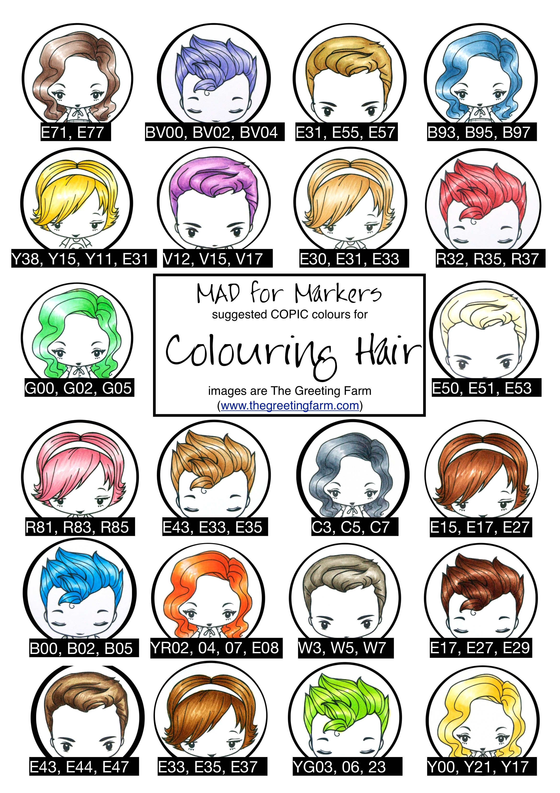 copic hair color suggestions
