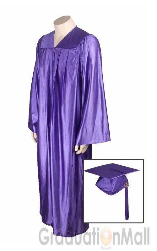 Economy Graduation Cap Gown Package--Purple-$17.95 | High School Cap ...