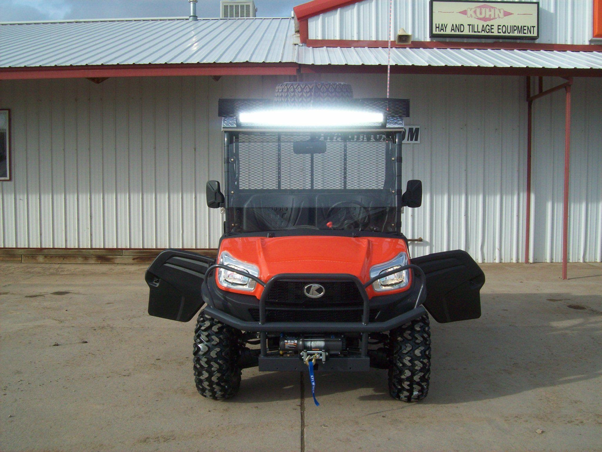 Kubota RTV X1120D with LED light bar.