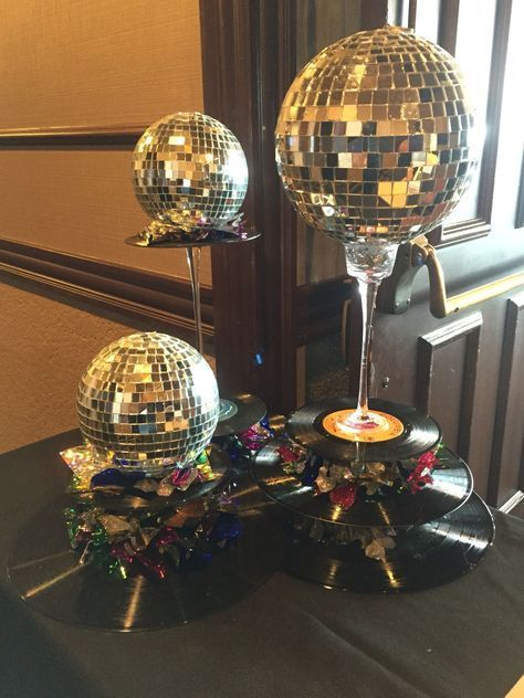 70s theme parties #70sthemeparties Keep things shiny and fun with a disco ball theme! My Big Day Event Planning & Marketing - Serving Northern CO, Wyoming, Colorado Mountains, and the Front Range  #Colorado #party #events #unique #creative #theme #70s #DIY #disco #albums #platters