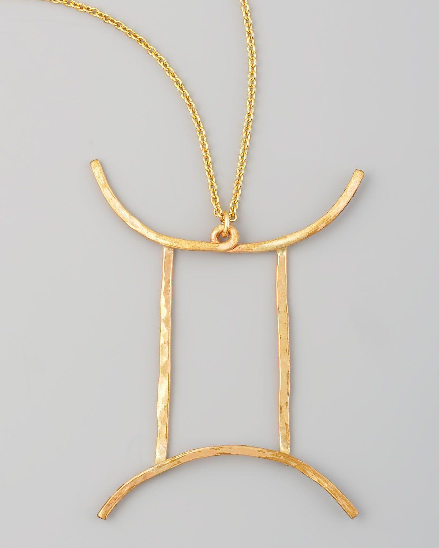 Silver gemini zodiac pendant necklace