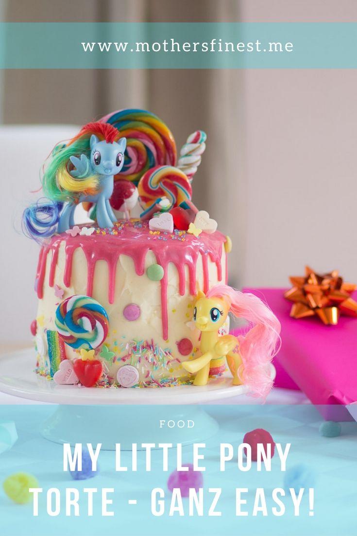 My Little Pony Torte Zum Vierten Geburtstag Easy Selbstbacken Kinder Geburtstag Torte Geburtstag Kuchen Madchen Geburtstag Torte