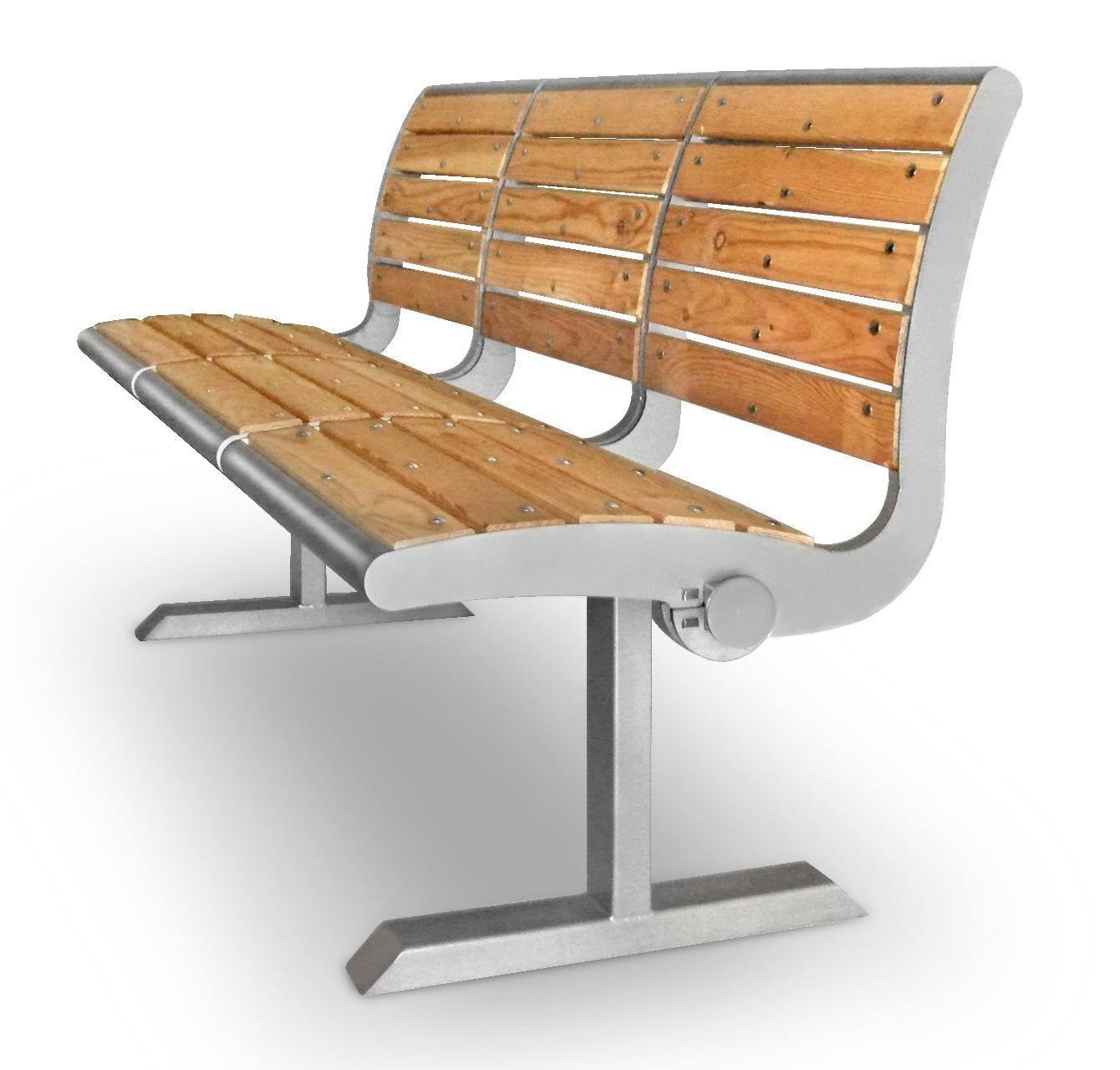 Sitzbänke aus Edelstahl