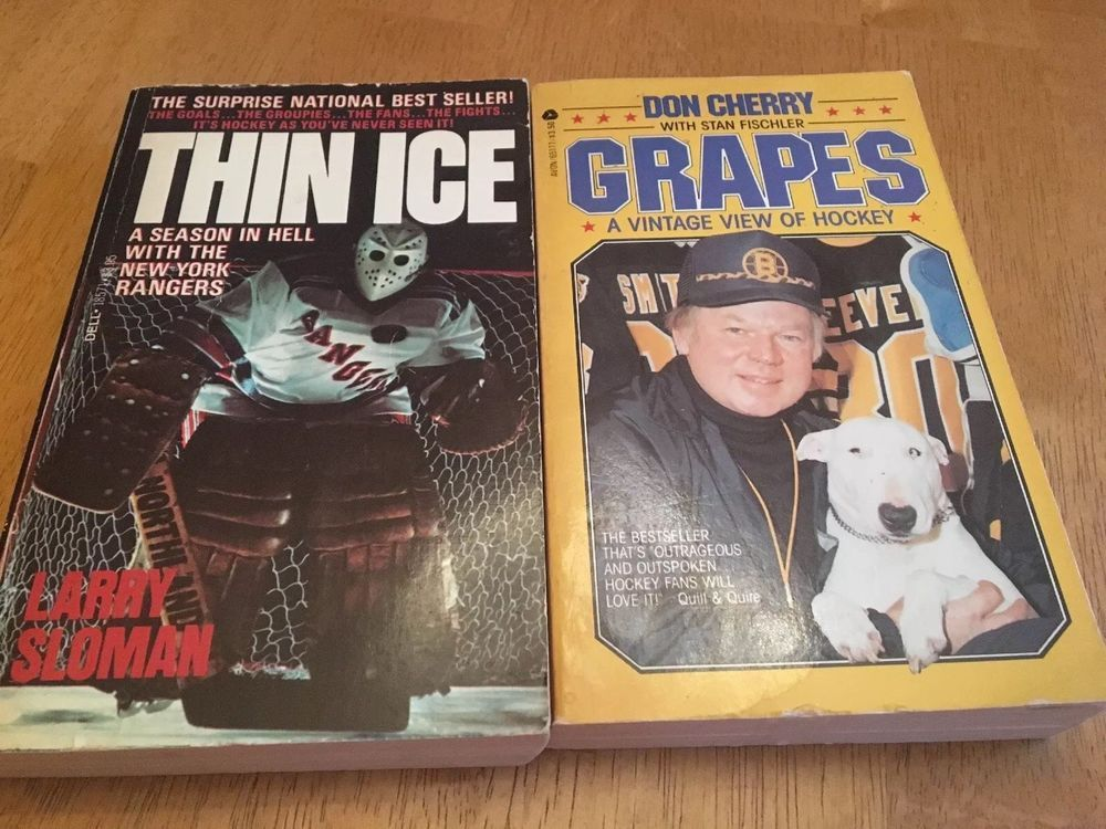 2 Piece Hockey Book Lot Thin Ice Larry Sloman 1st Edition
