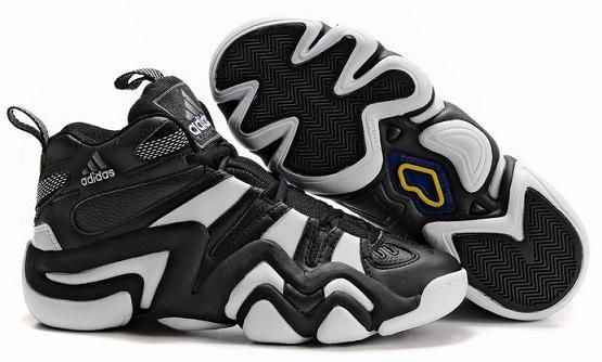 Adidas Crazy 8 Mens Basketball Shoes in black and white