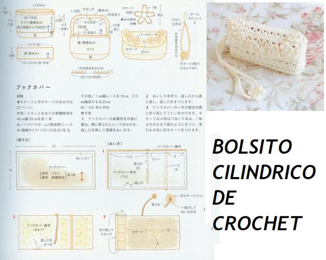 Patrones para Crochet: Bolsito Neceser Cilindrico Patron