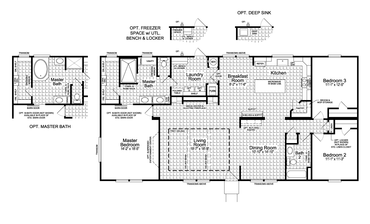 View The Vintage Farmhouse Floor Plan For A 1984 Sq Ft Palm Harbor Manufactured Home In Lufkin Texa In 2020 Modular Home Floor Plans Floor Plans Farmhouse Floor Plans