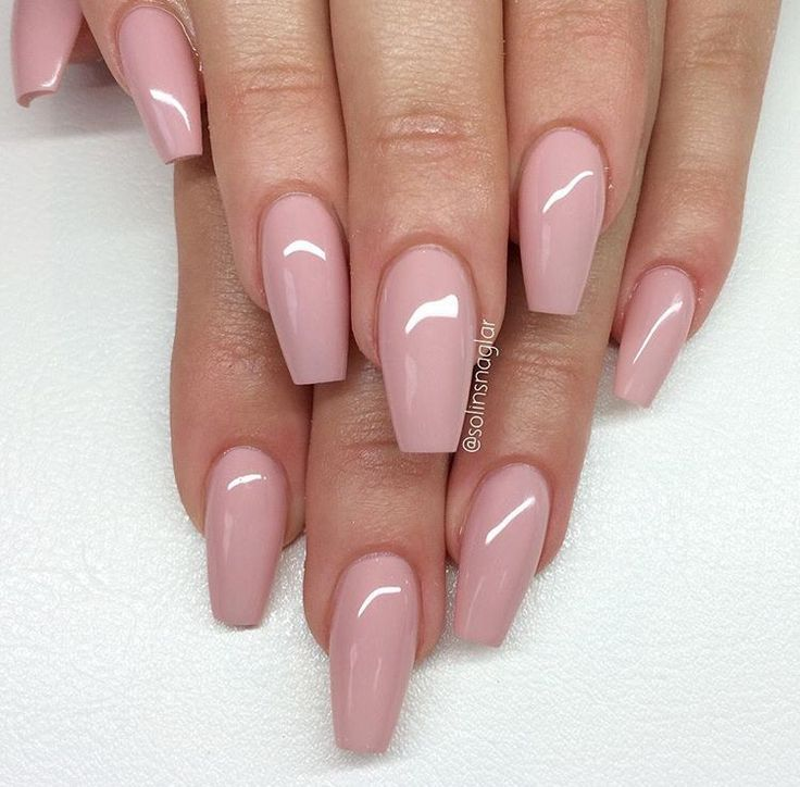 Dusty Rose Nails Ballerina Nails Pink Nails Nails