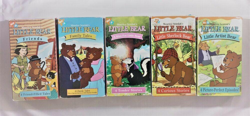 5 NICK JR LITTLE BEAR VHS VIDEOS MAURICE SENDAK Friends