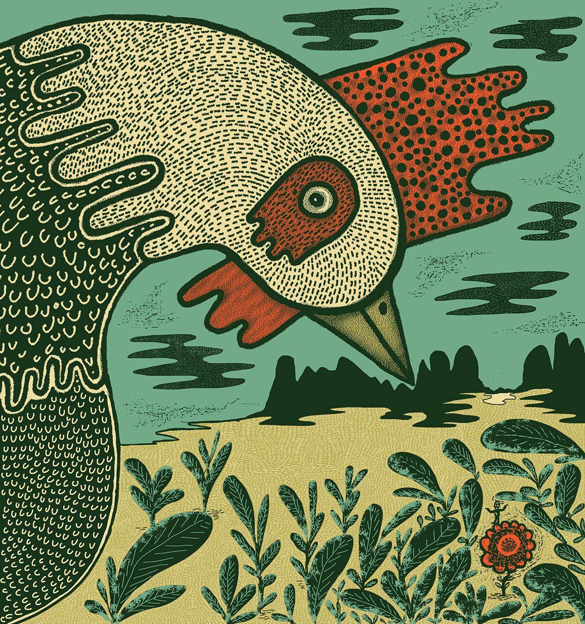 El sueño del gallo. V catalogo iberoamericano. on Behance