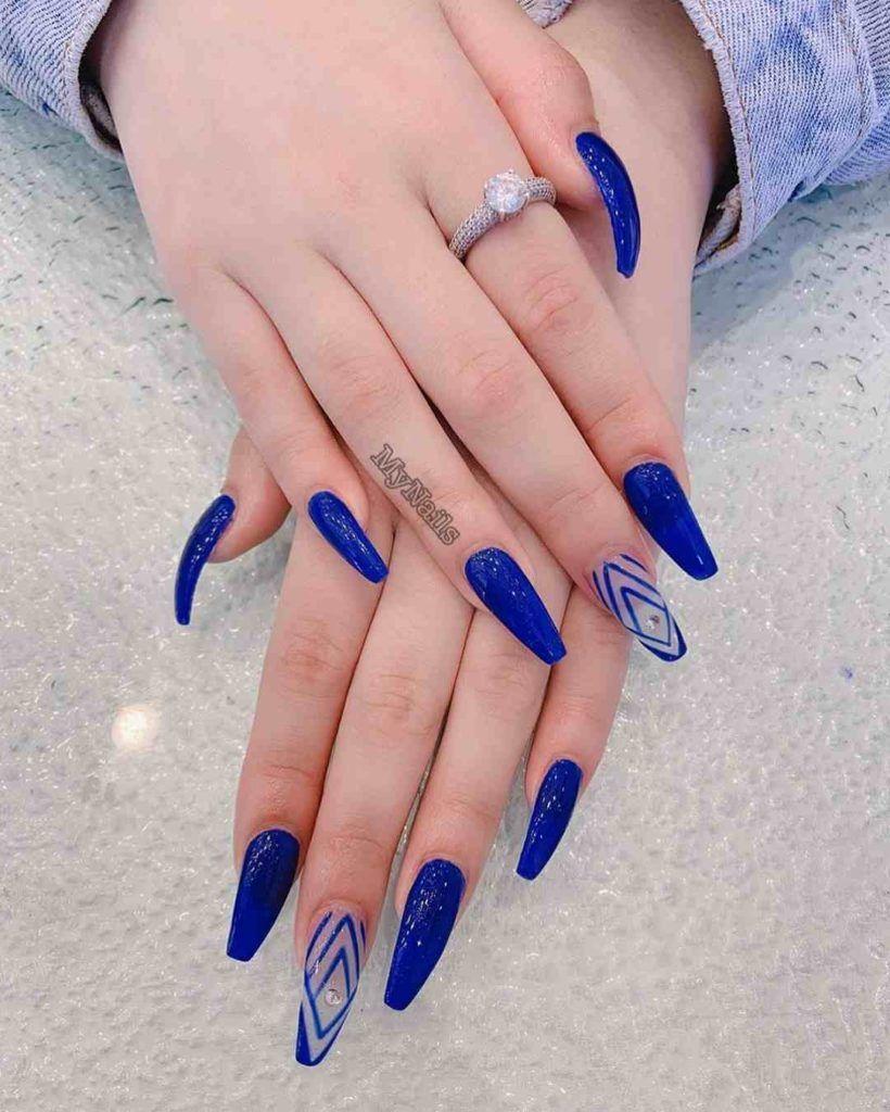 Soft Acrylic Nail Design Royal Blue Nails Designs Royal Blue Nails Blue Nail Designs