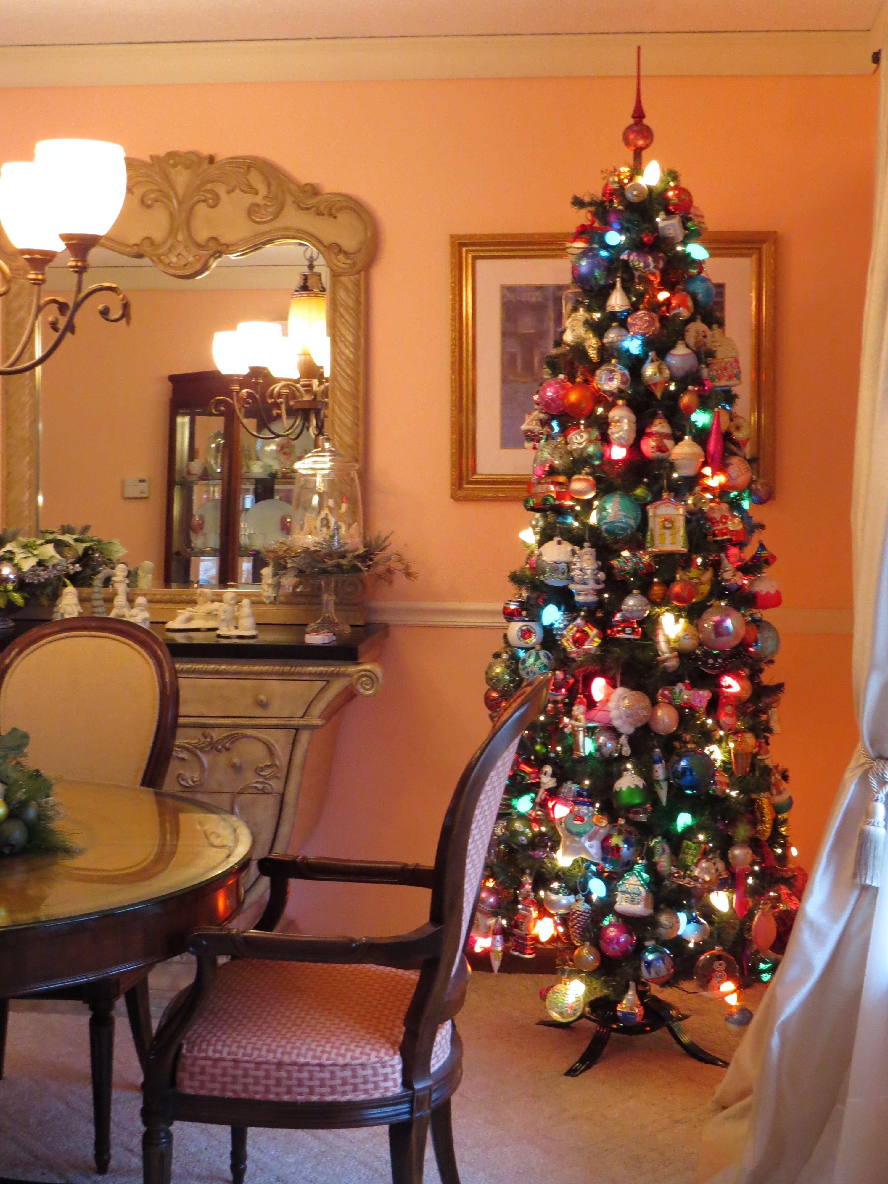 Glass Ornaments Christmas Tree  #GlassOrnaments #Christmas #ColorfulChristmas #ChristmasTree