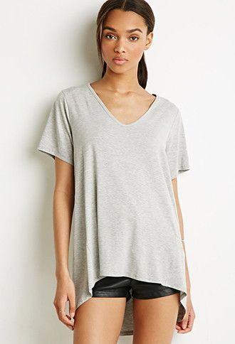 Oversized V-Neck Tee | Forever 21 t shirts, Women, V neck tee
