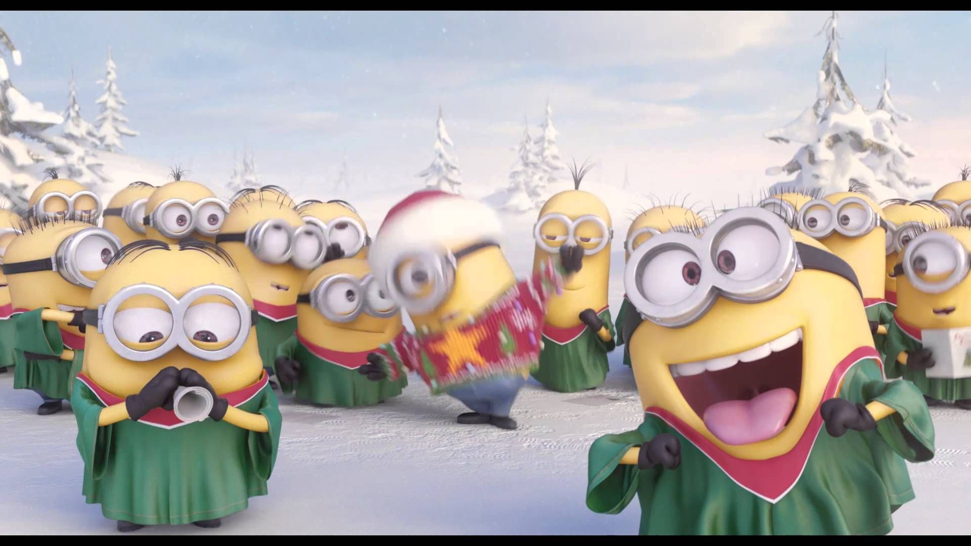 Happy thanksgiving merry christmas minions go caroling minions go caroling in this holiday greeting video funsubstance tv kristyandbryce Choice Image