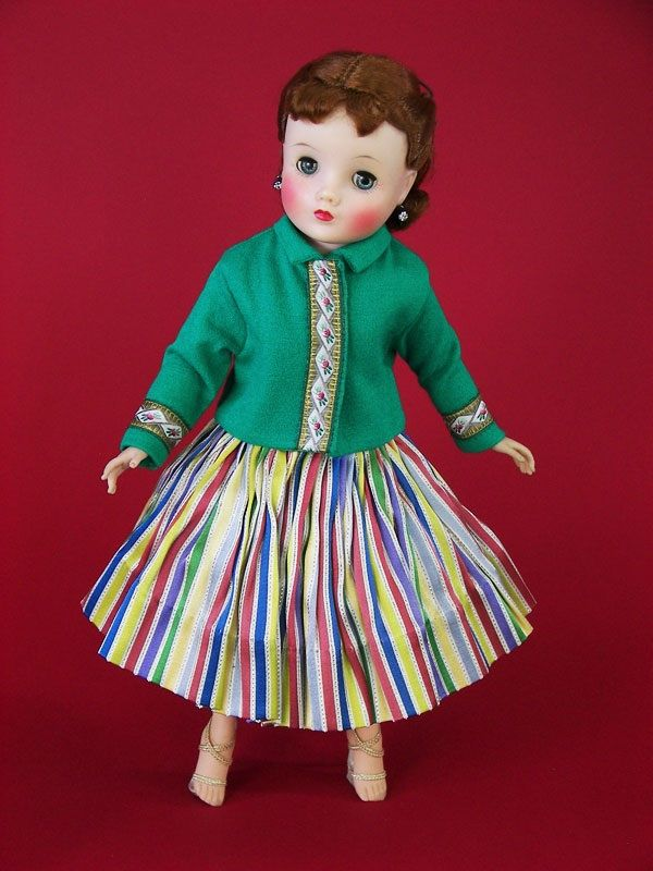 1950's Madame Alexander Elise Doll Wears 1959 FAO Schwarz Set