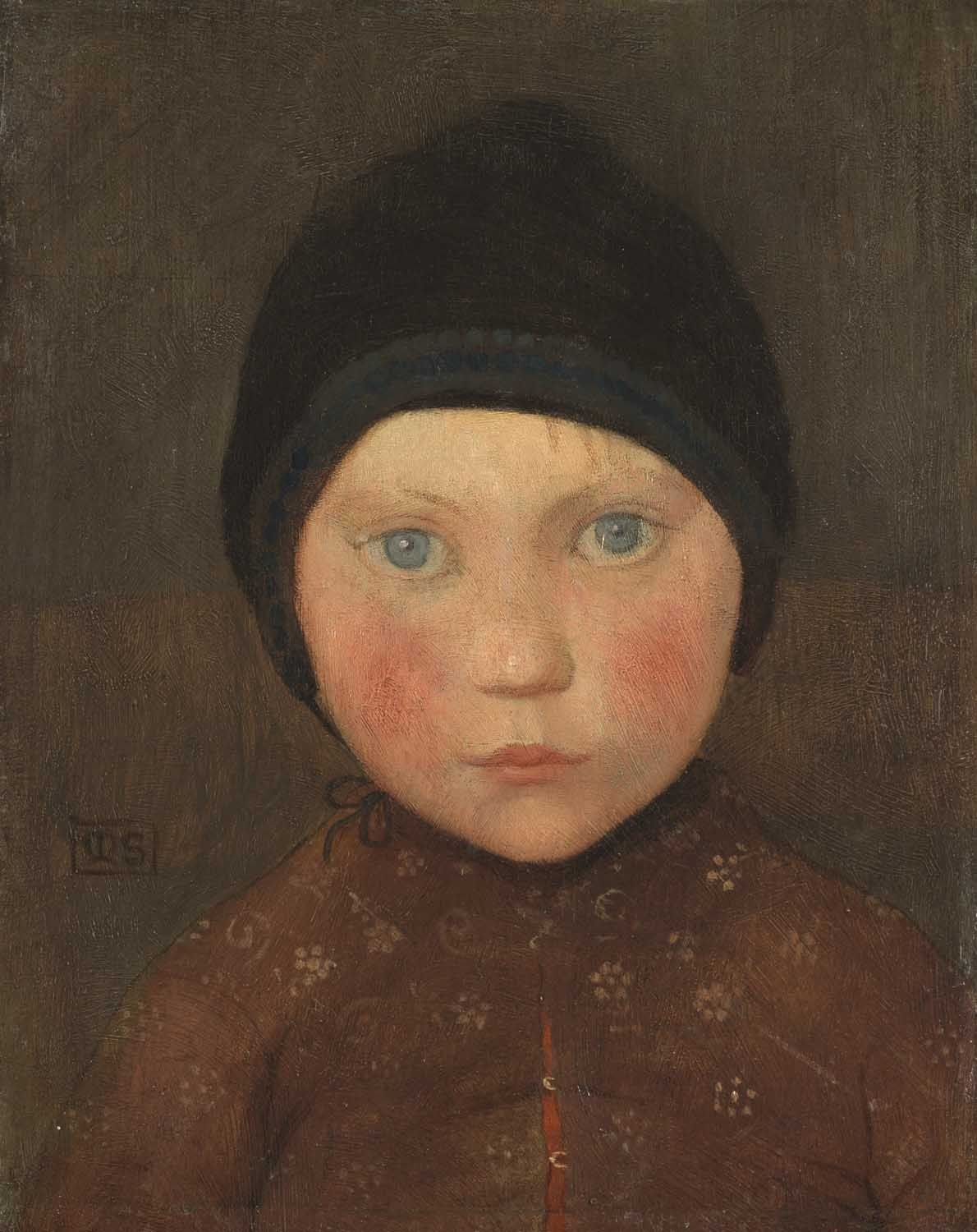 "Marianne Stokes (1855-1927) - ""Head of a Child"""