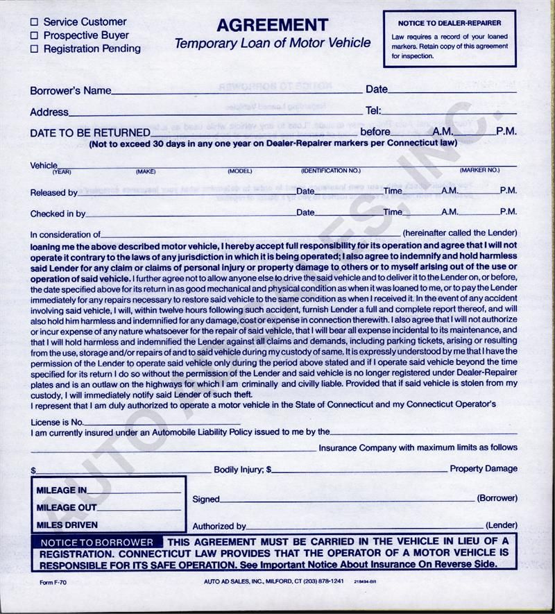 Printable Sample Loan Agreement Form Form | Laywers Template Forms