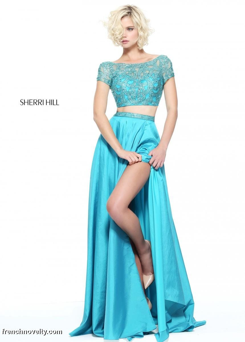 Sherri Hill 51185 is a 2-piece prom dress with a fully beaded, short ...