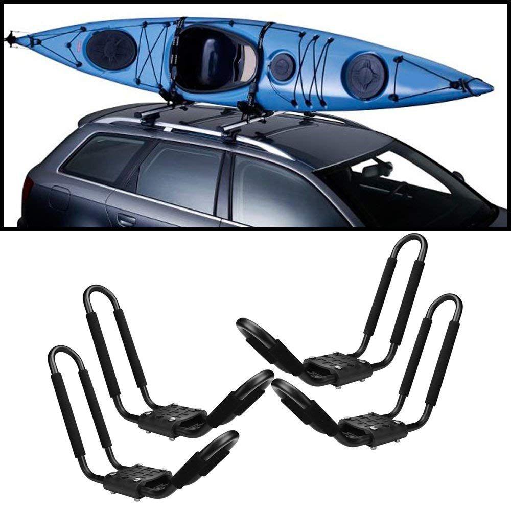 JDM Auto Lights 2 Pair Universal Roof Rack Kayak Kayak