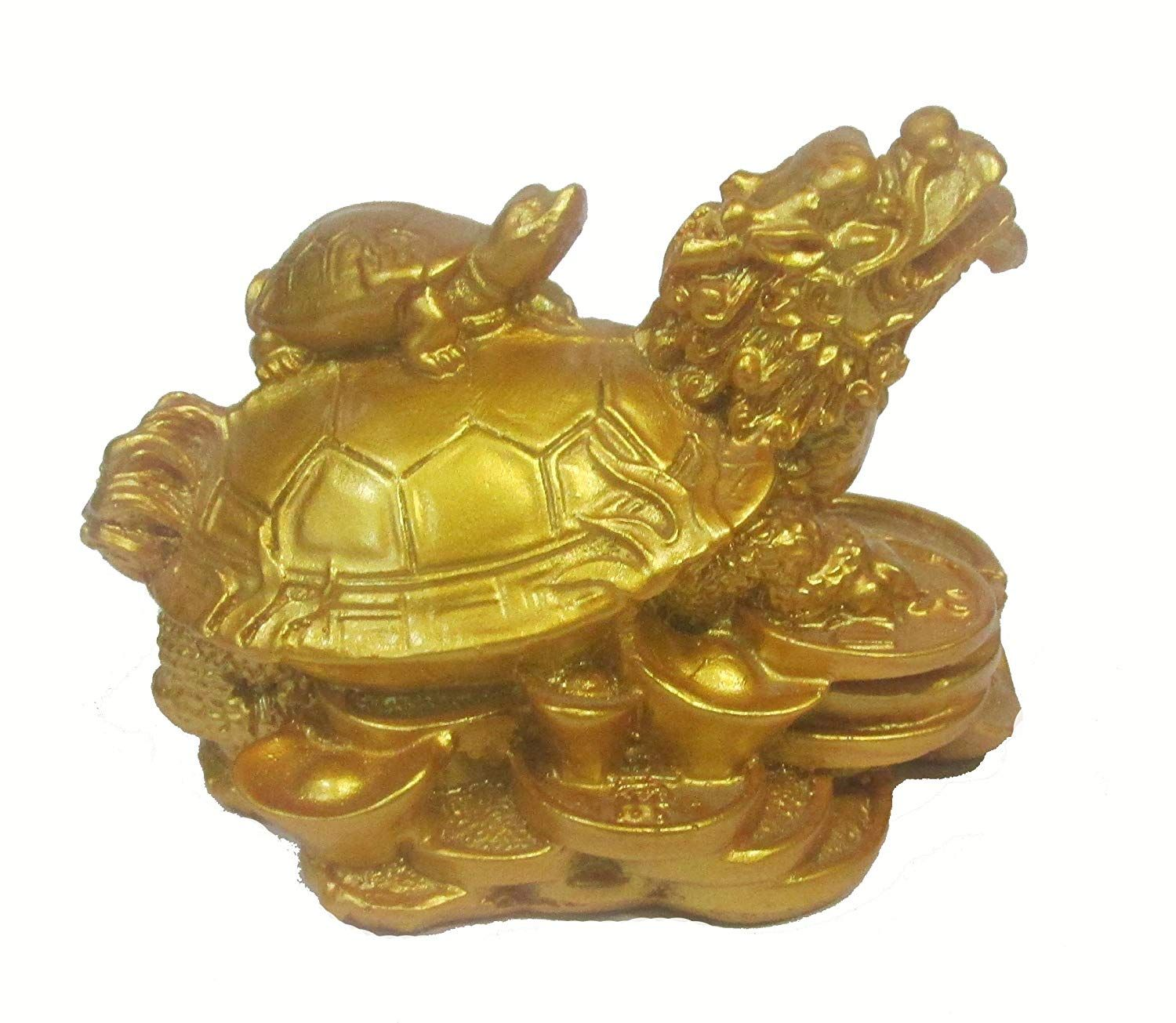 Feng Shui Dragon Headed Turtle With Baby Tortoise Symbol Of Power