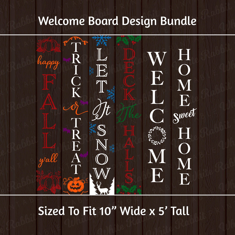 Seasonal Welcome Sign Bundle: Digital Download, Svg, Eps