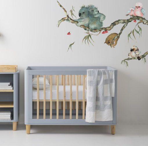 Best Aussie Friends Branch Nursery Wall Stickers Nursery Wall Decals Baby Wall Stickers 400 x 300